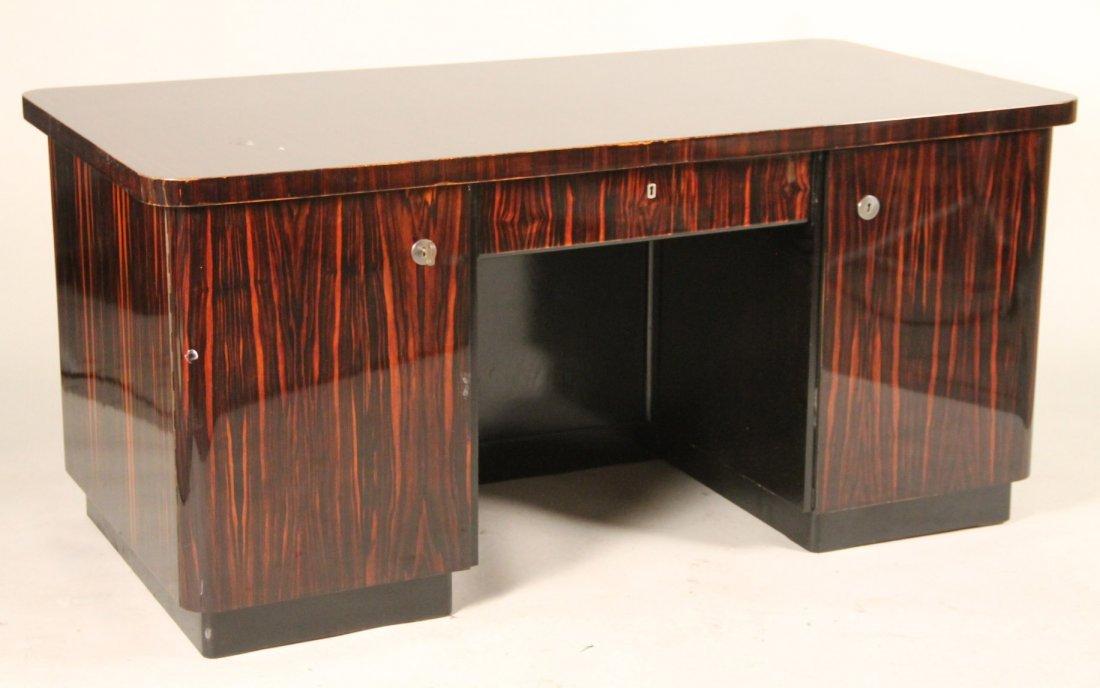 Art Deco Zebrawood Desk