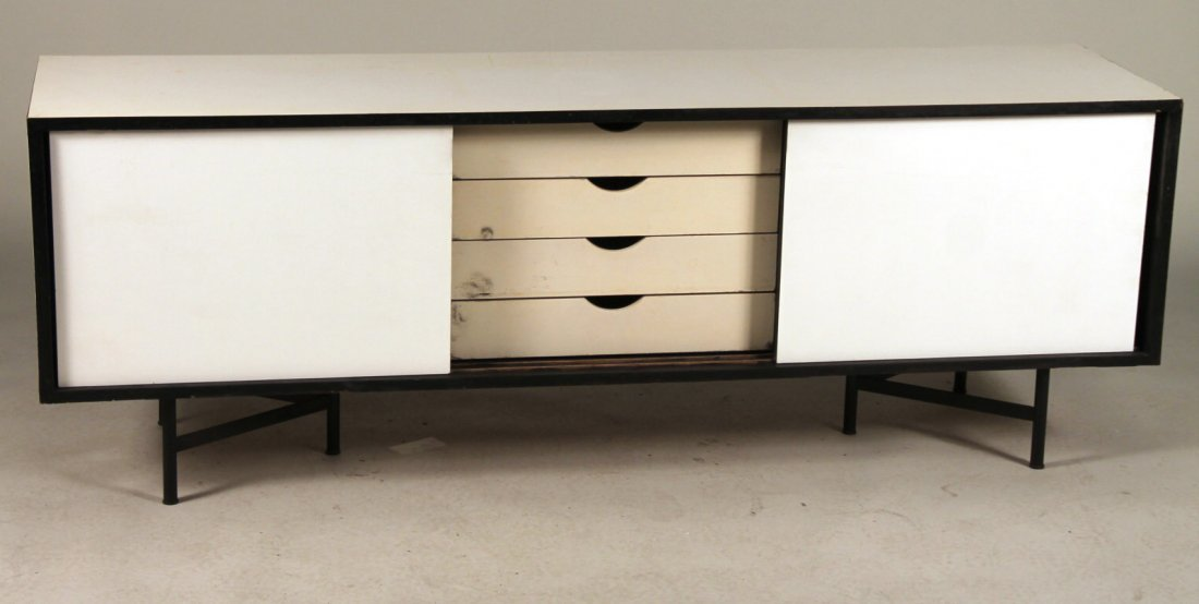 Robin Day White-Painted Low Cabinet