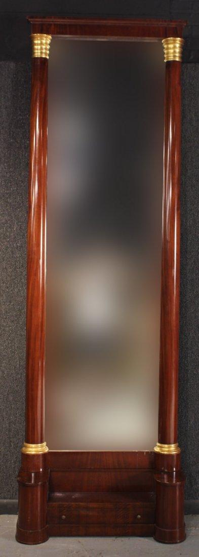 Biedermeier Parcel-Gilt Mahogany Hall Mirror