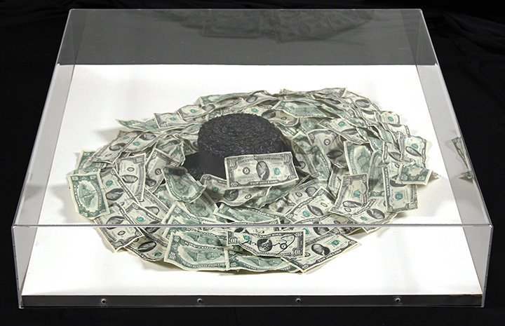Andy Warhol, Halston Hat and Money Sculpture