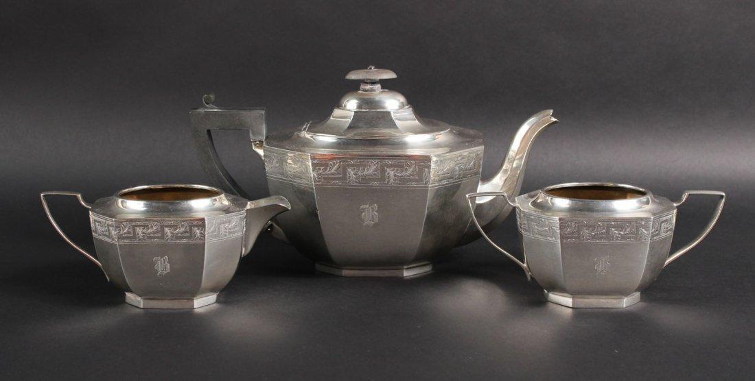 English Silver Three Piece Tea Service