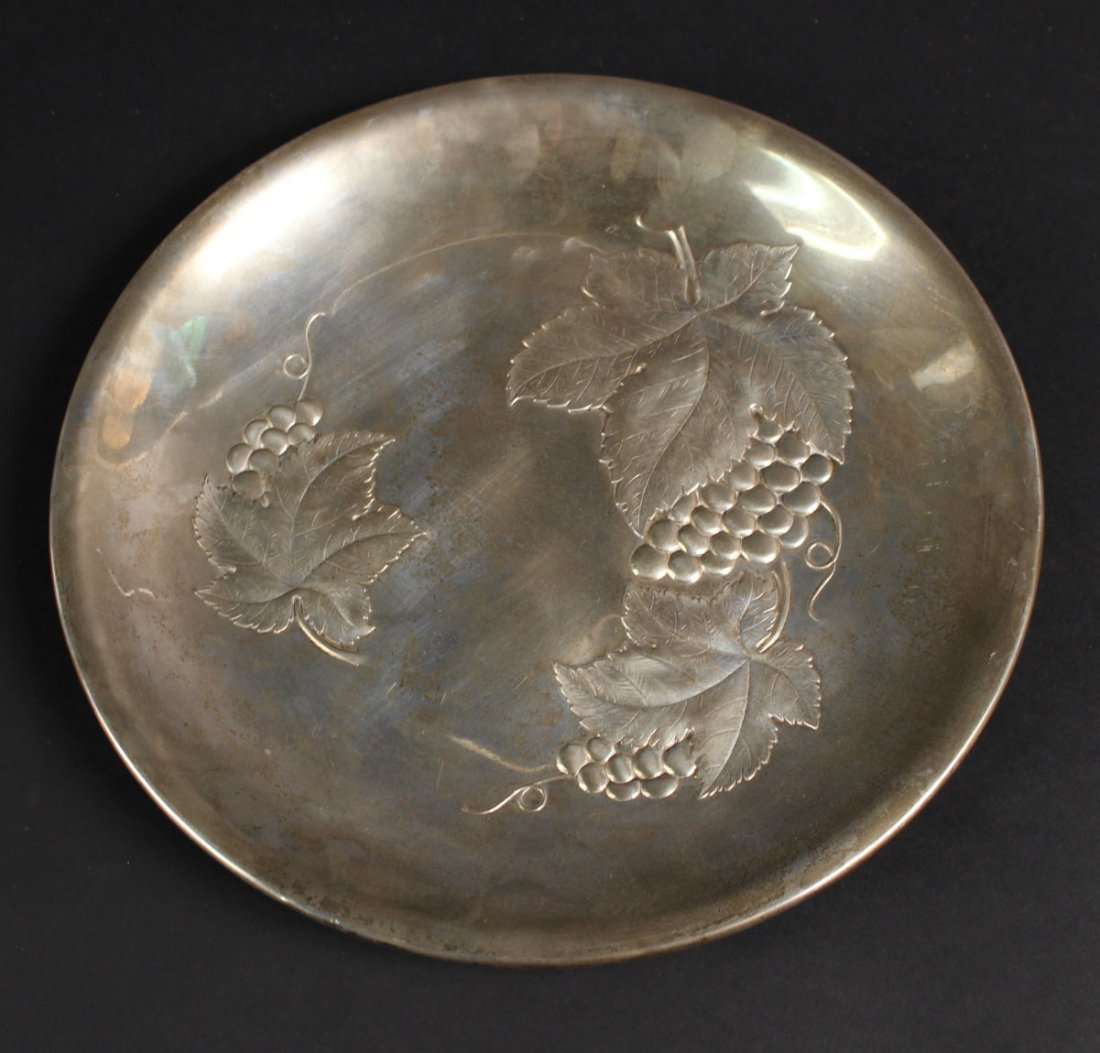 Wallace Sterling Silver Circular Tray