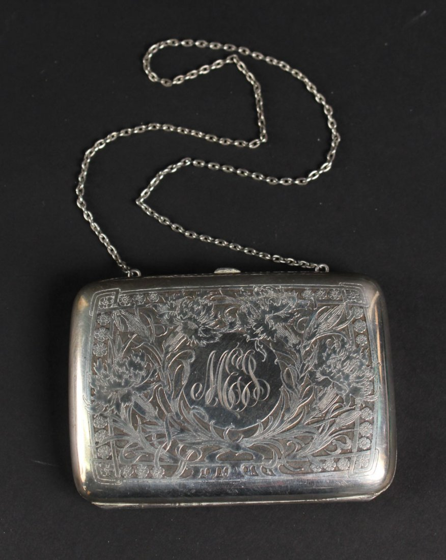 Sterling Silver Evening Purse On Chain