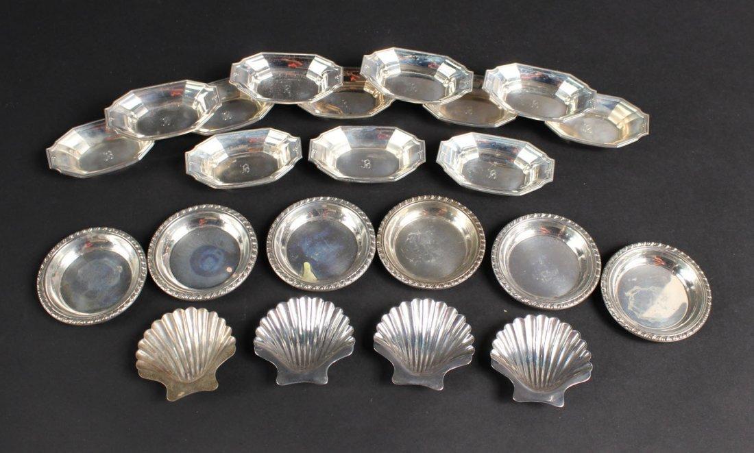 Set of Twelve Gorham Sterling Silver Nut Dishes