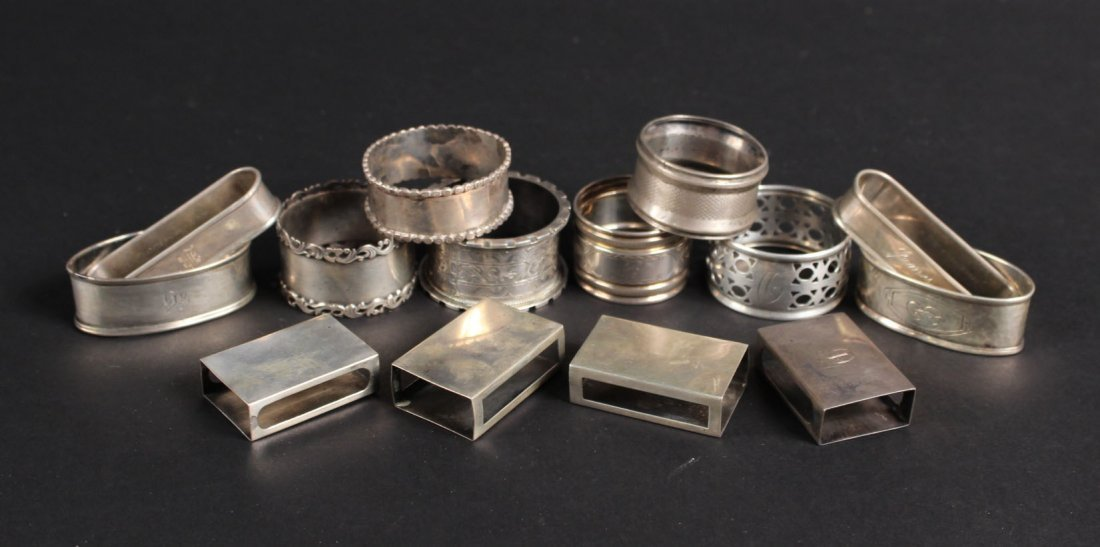 Group of Ten Sterling Silver Napkin Rings