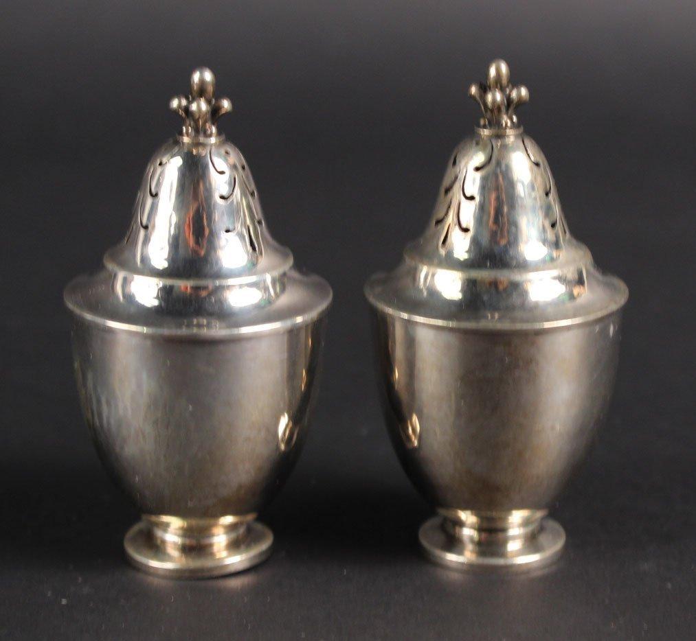 Pair of Georg Jensen Sterling Silver Salt Shakers