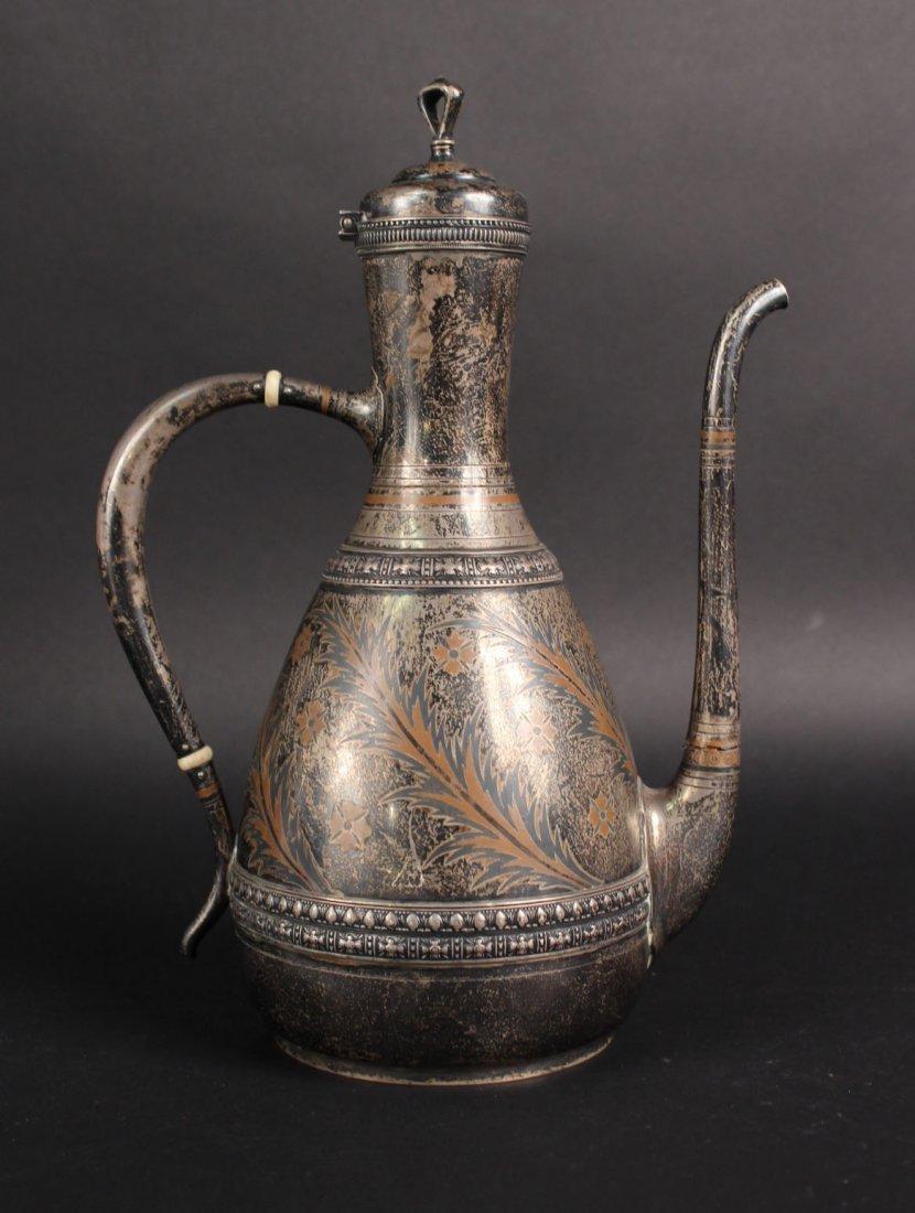 Tiffany & Co. Niello Sterling Silver Coffee Pot