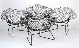 Four Harry Bertoia Diamond Chairs