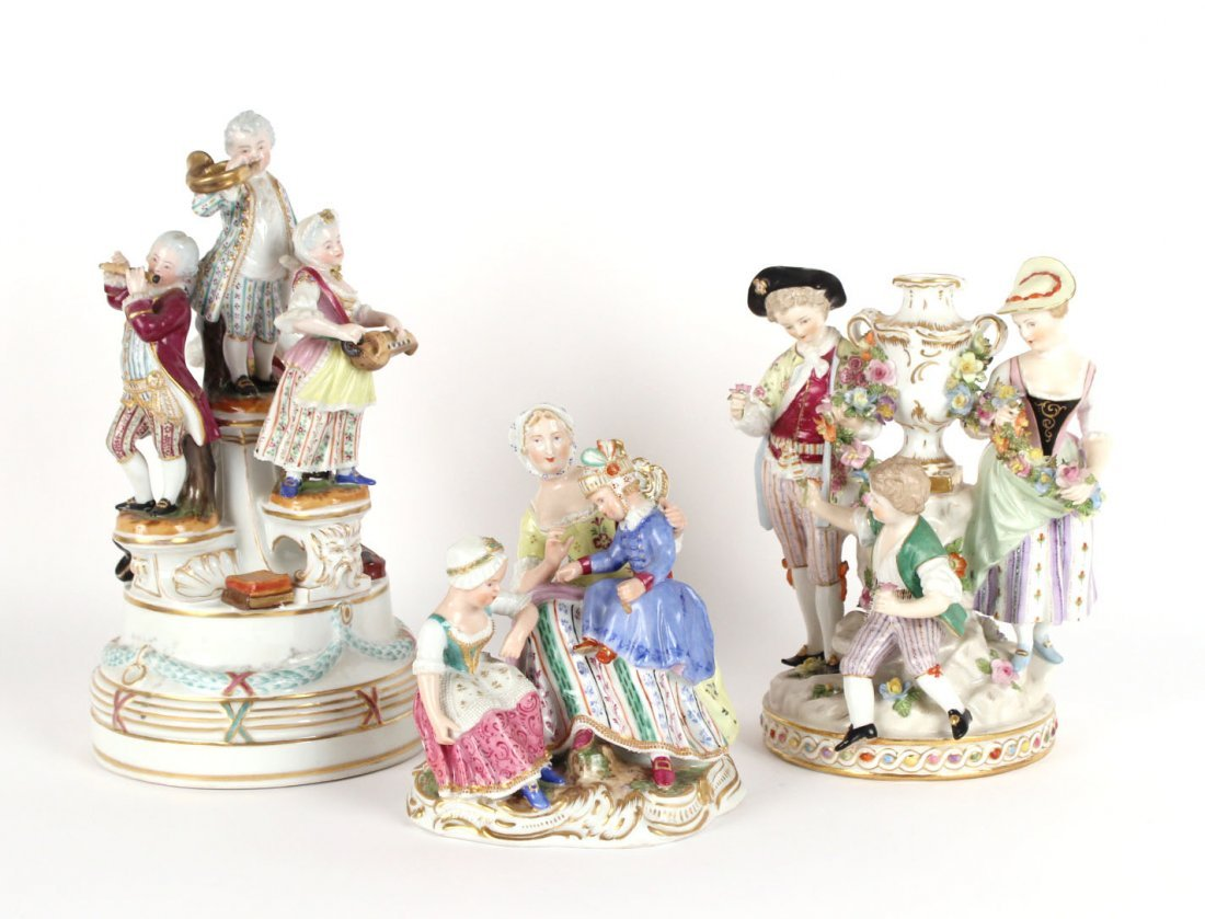Three Royal Vienna Porcelain Figural Groups