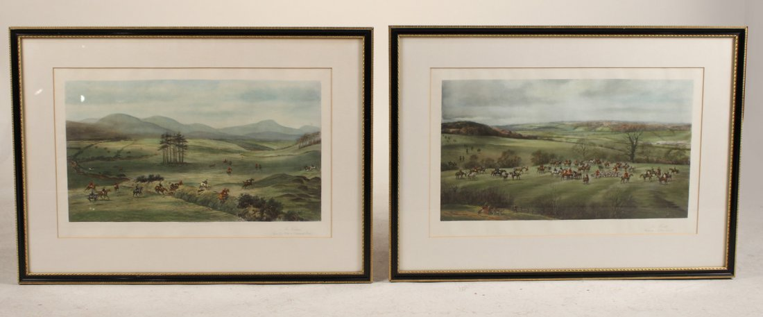 Two Fox Hunting Lithographs