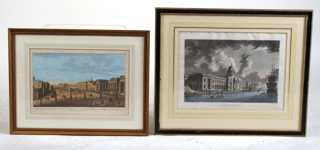 Two Architectural Prints, Dublin