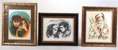 Two Lithographs, Couples, Sandu Liberman