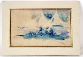 Watercolor, Maritime Scene, Pierre Auguste Renoir