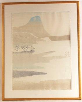 Lithograph, Mount Fuji, Pessia