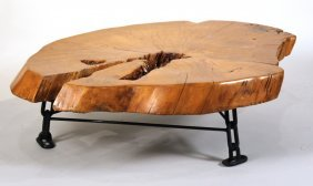 Nakashima Style Wood Slab Coffee Table