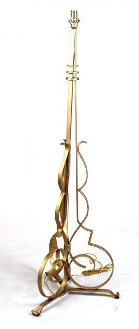 Art Deco Gilt-metal Floor Lamp