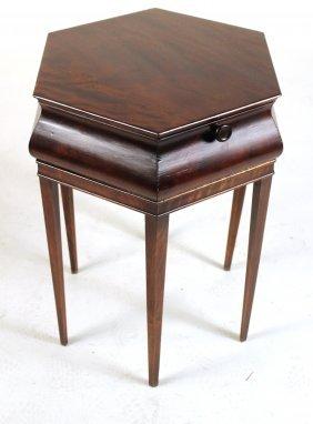 Art Deco Hexagonal Mahogany Side Table
