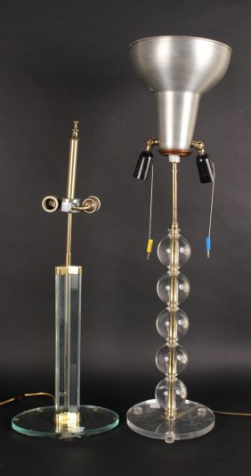 Modern Lucite Venini Table Lamp