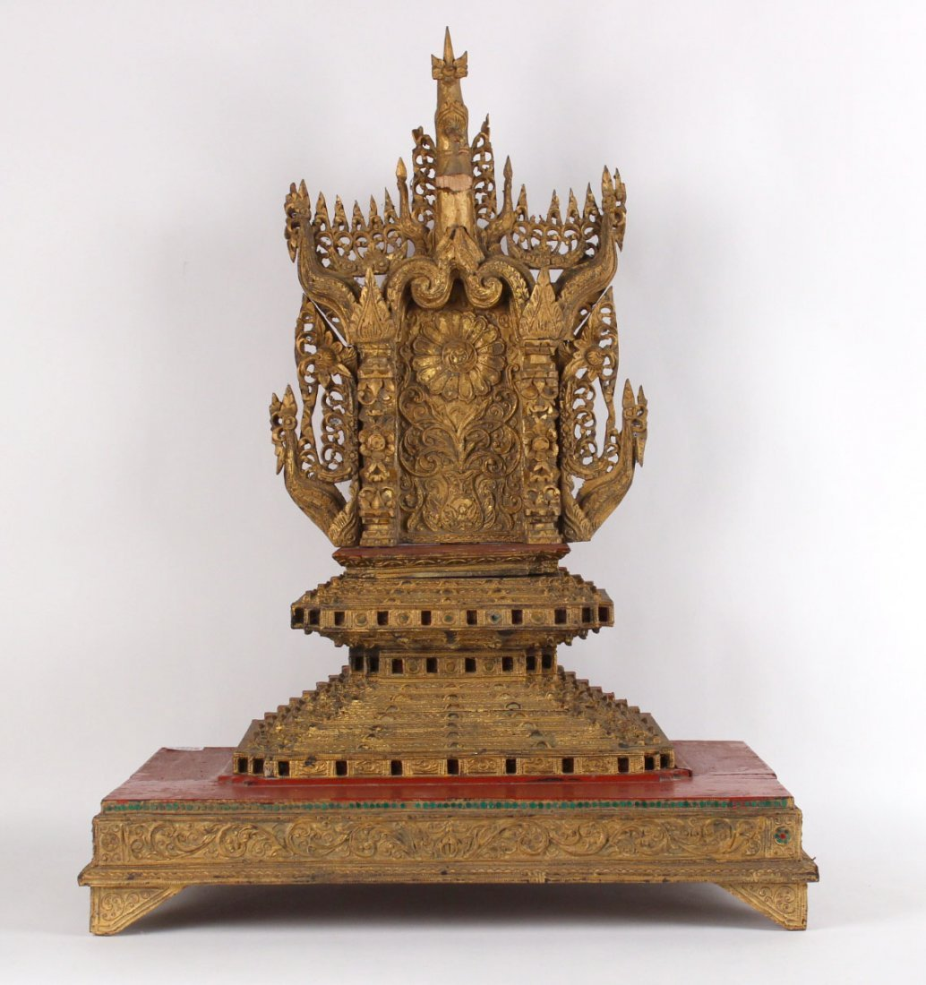 Chinese Carved Giltwood Temple