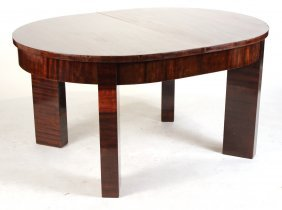 Art Deco Mahogany Extension Dining Table