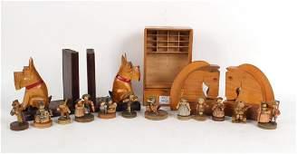 Twelve German Wooden Figures