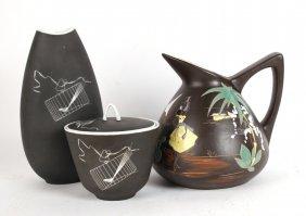 Johann Havilland Porcelain Vase And Covered Bowl