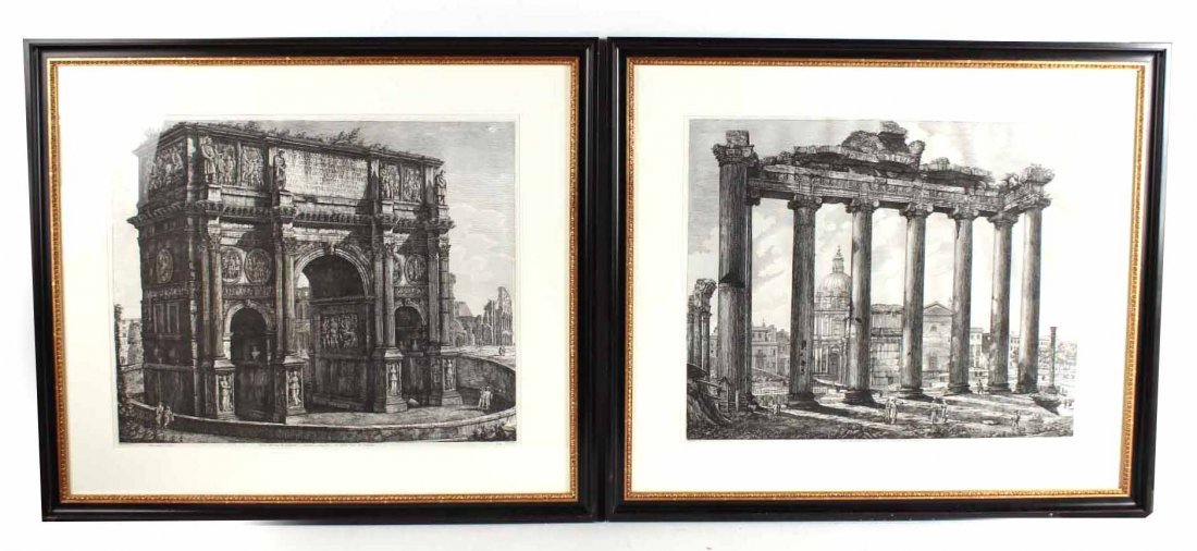 Two Architectural Prints, Luigi Rossini Ravenate