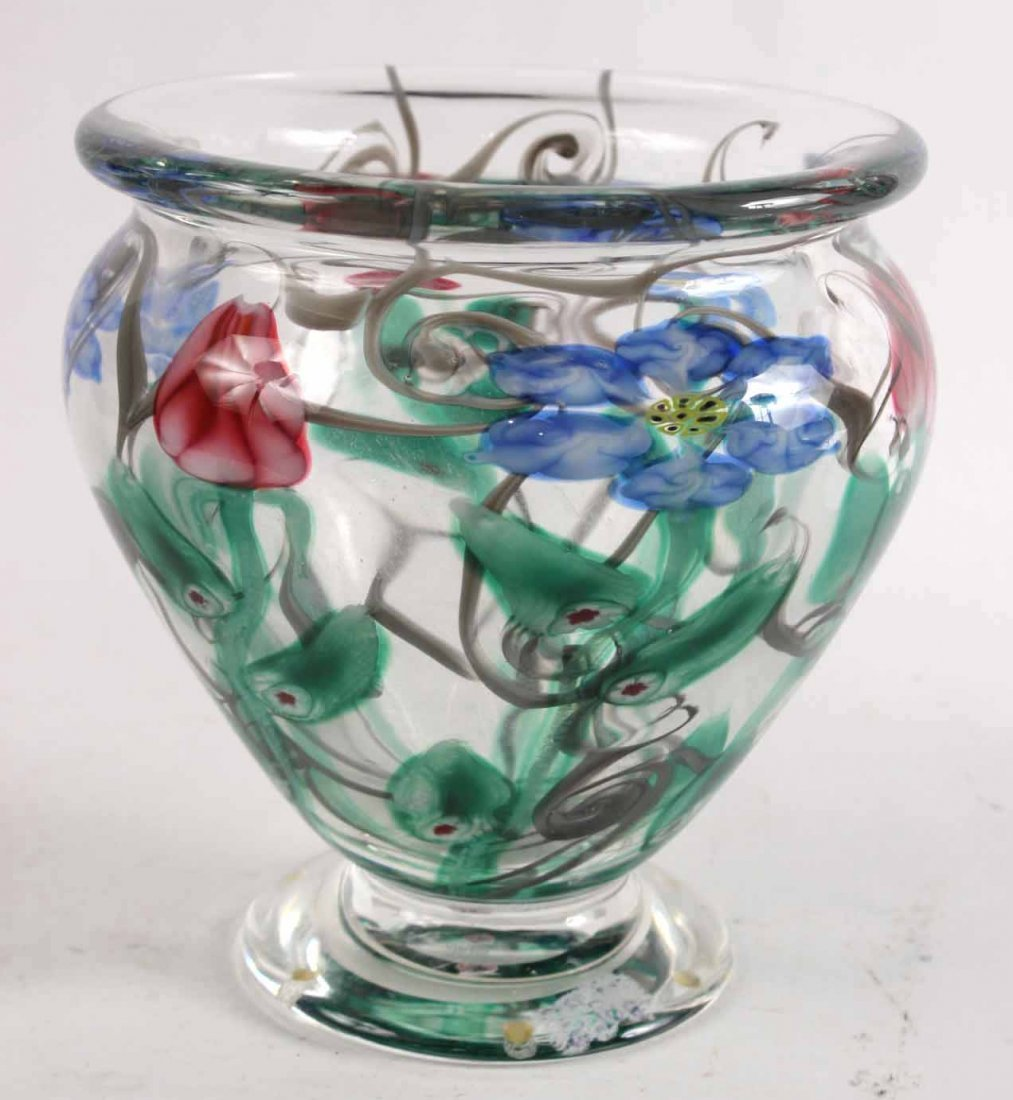 Vandermark Paperweight Footed Vase