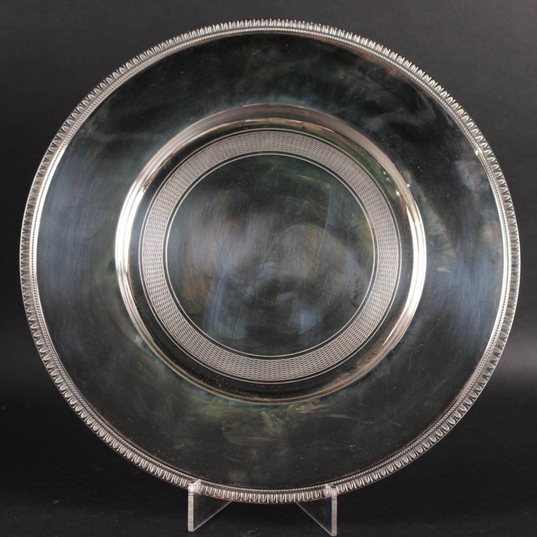 Christofle Silver Plated Circular Serving Tray