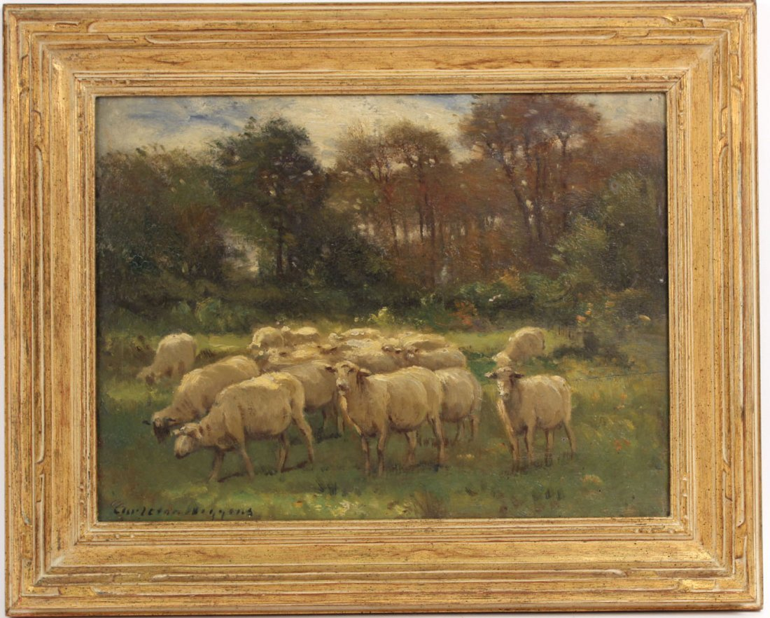 Oil on Board, Sheep, Carleton Wiggins
