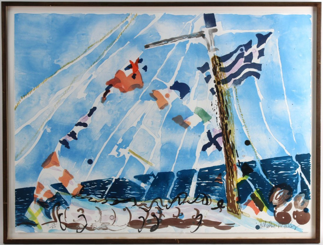 Lithograph, Seascape, Malcolm Morley