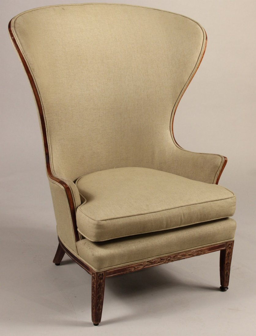 French Provincial Style Beechwood Wing Chair