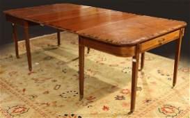 George III Inlaid Mahogany Dining Table