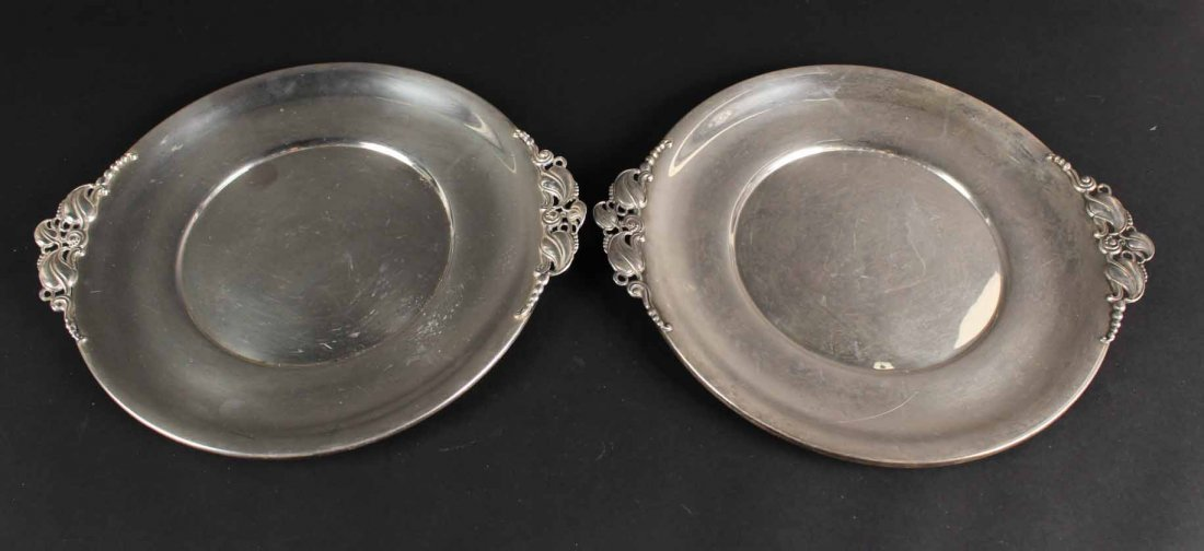 Pair of Gorham Sterling Silver Circular Trays