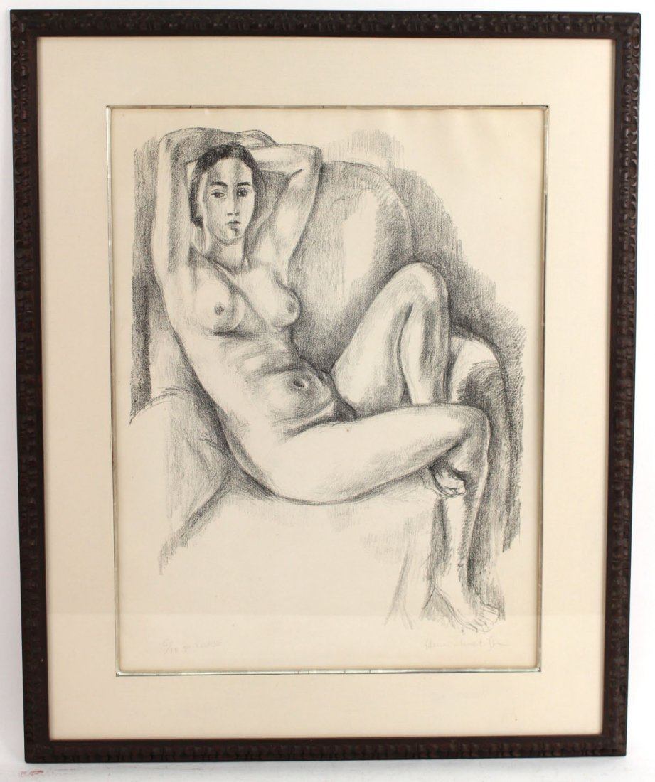 Lithograph, Study of Seated Nude, Henri Matisse