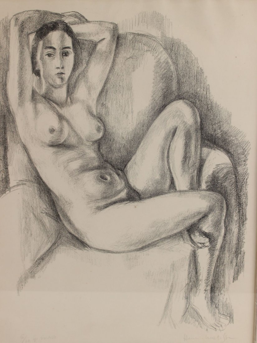 Lithograph, Study of Seated Nude, Henri Matisse - 2
