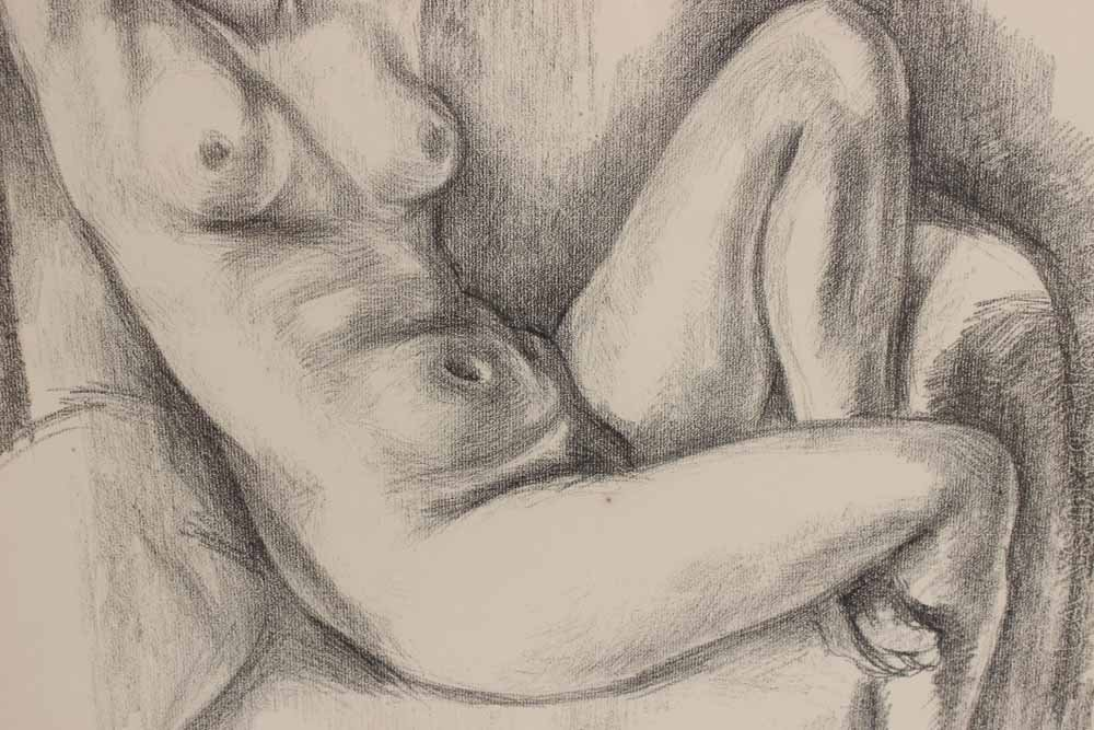 Lithograph, Study of Seated Nude, Henri Matisse - 4