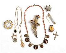 Three Costume Jewelry Pins