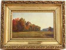 Oil on Board Landscape Benjamin Champney