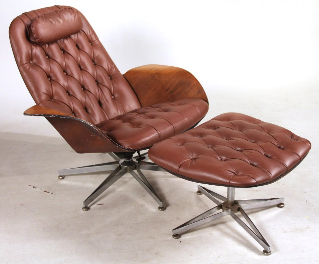 Plycraft Eames Style Lounge Chair & Ottoman