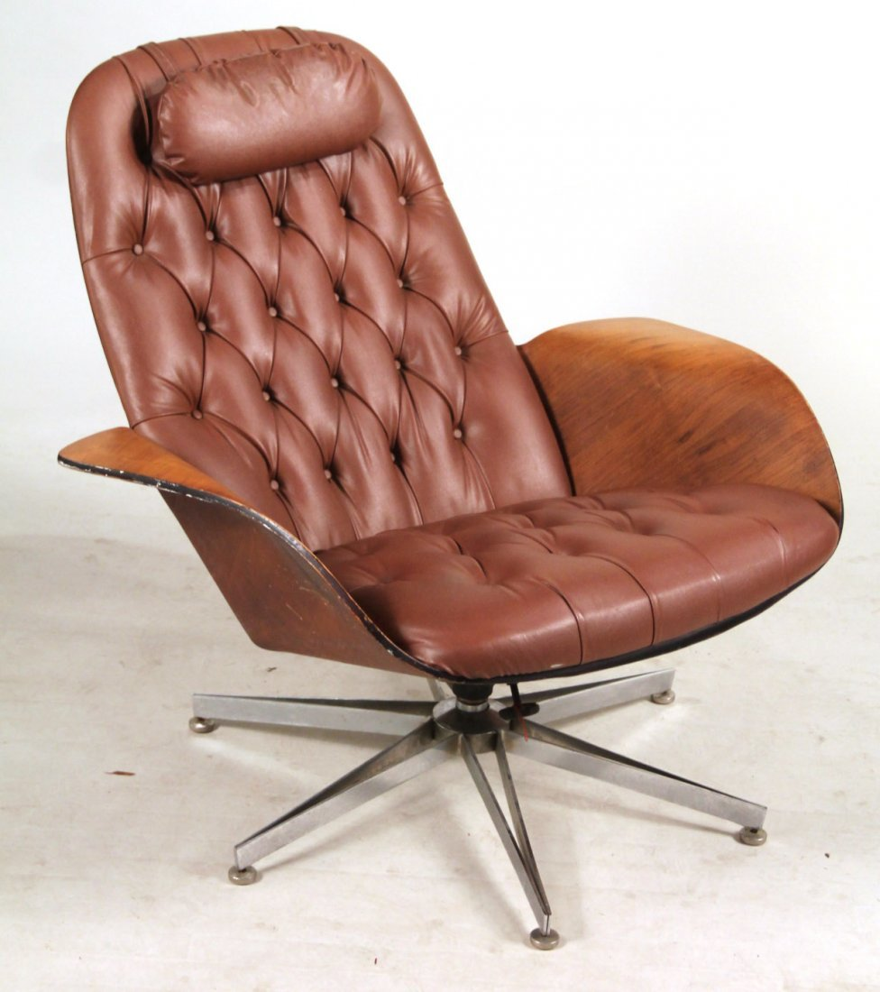 Plycraft Eames Style Lounge Chair & Ottoman - 2
