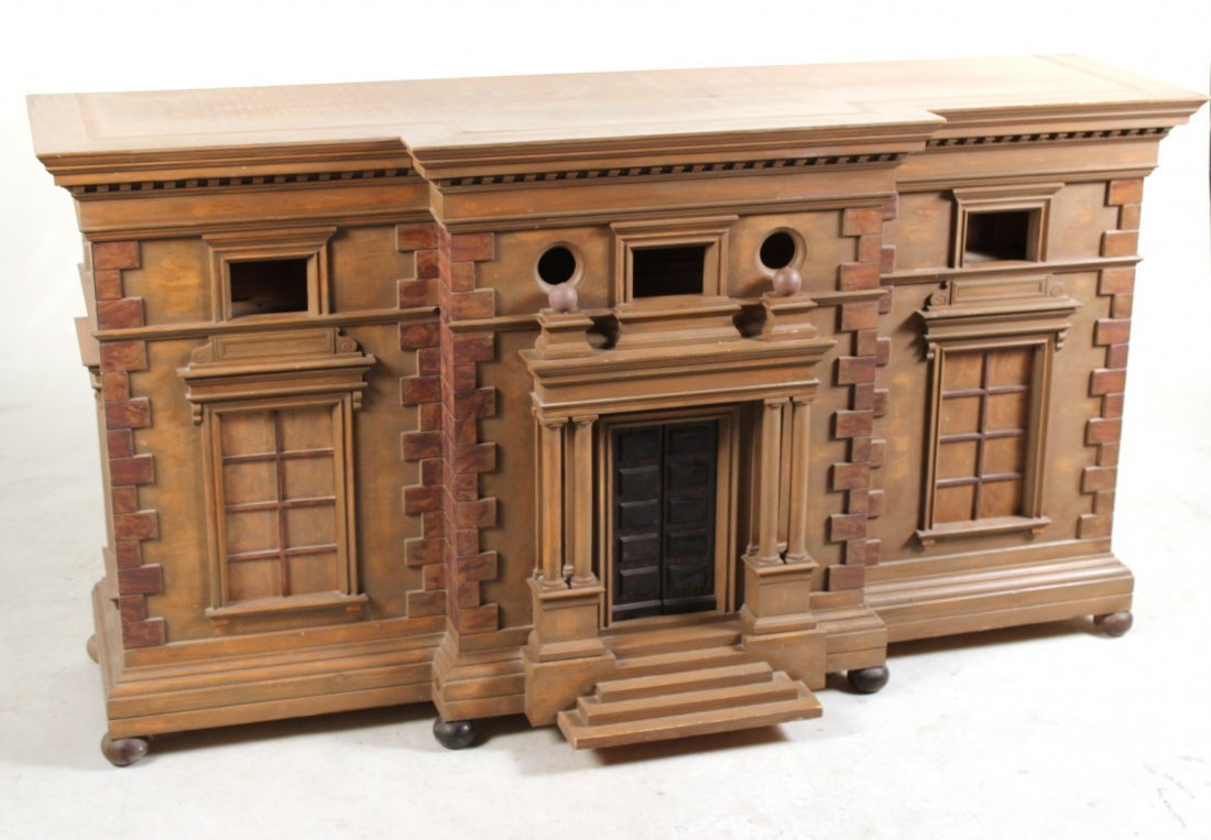 Architectural Painted Wood Sideboard