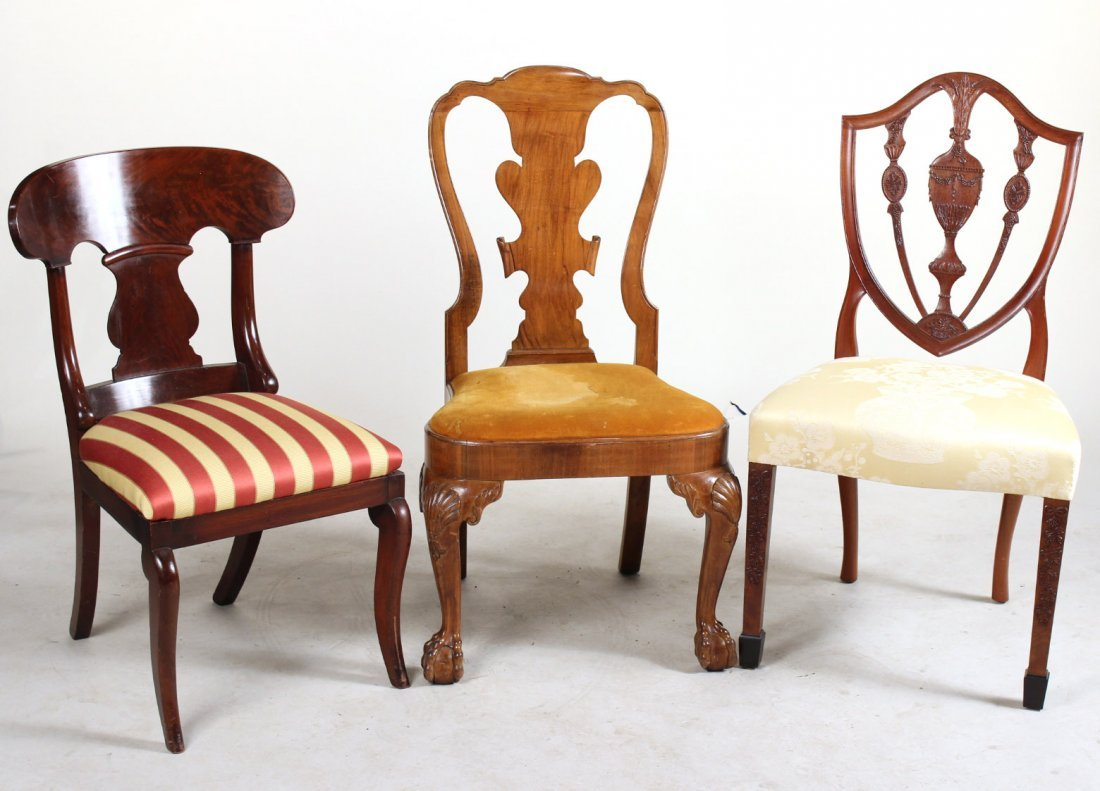 Three Assorted Side Chairs