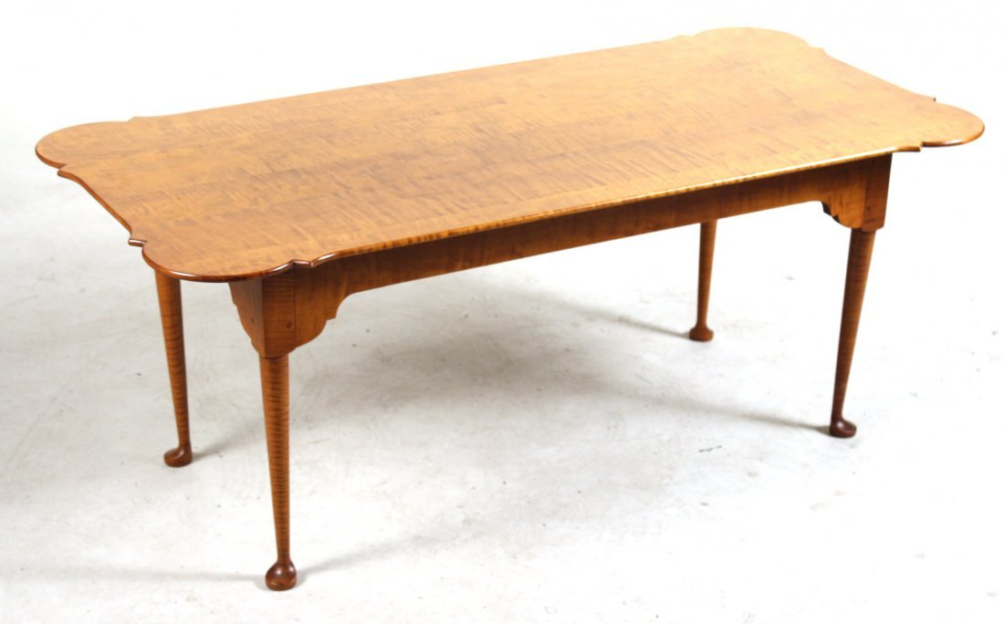 Queen Anne Style Eldred Wheeler Maple Low Table