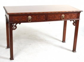 Baker George Iii Style Mahogany Library Table