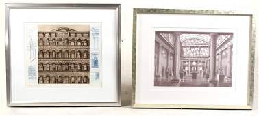 Two Architectural Etchings, Richard Haas