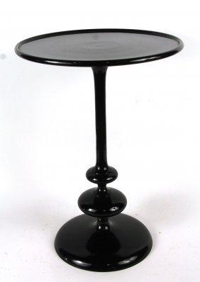 Modern Black-painted Metal Side Table