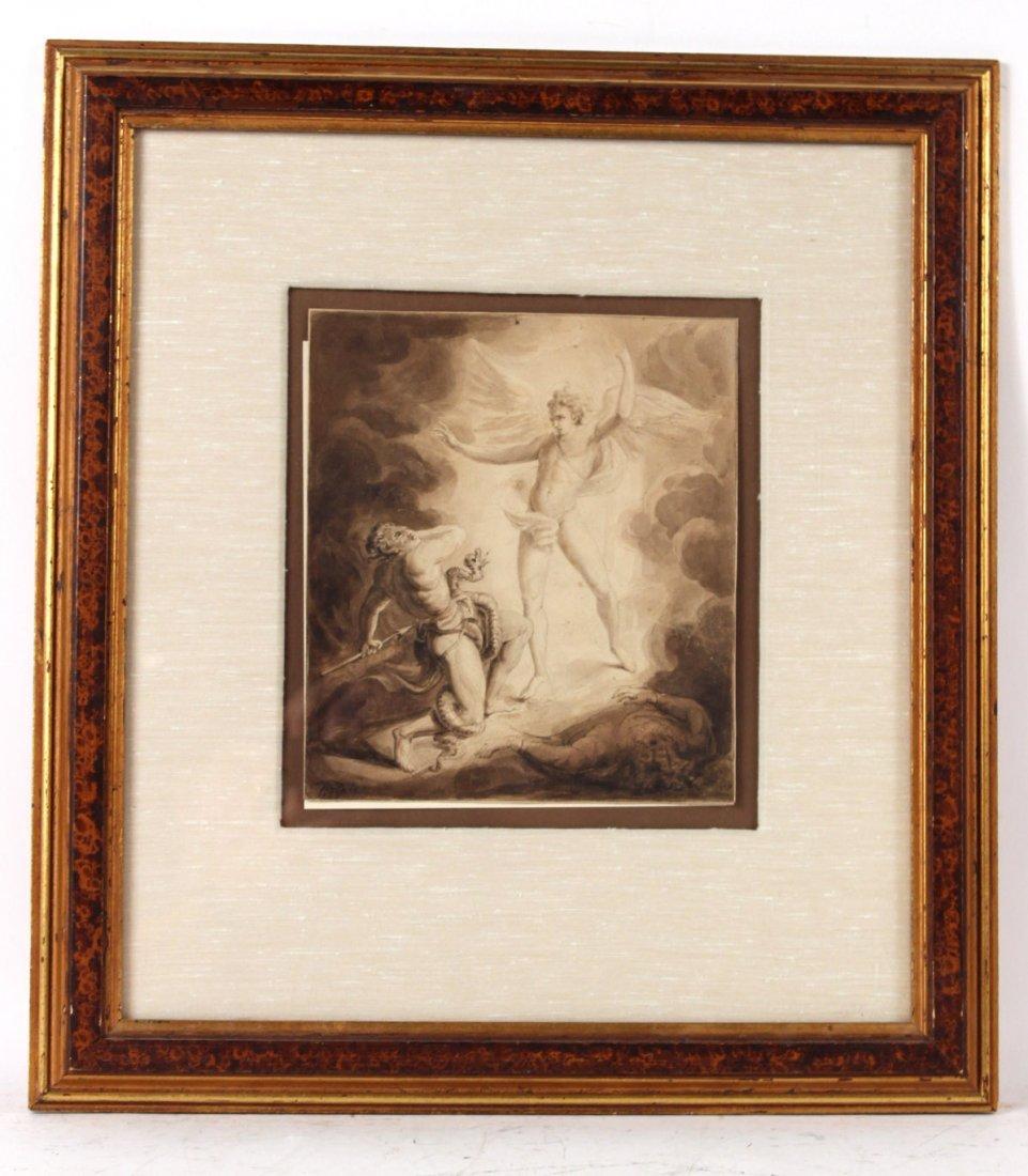 Pen and Ink, Archangel Michael, William Blake