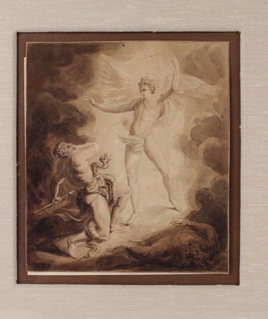 Pen and Ink, Archangel Michael, William Blake - 2