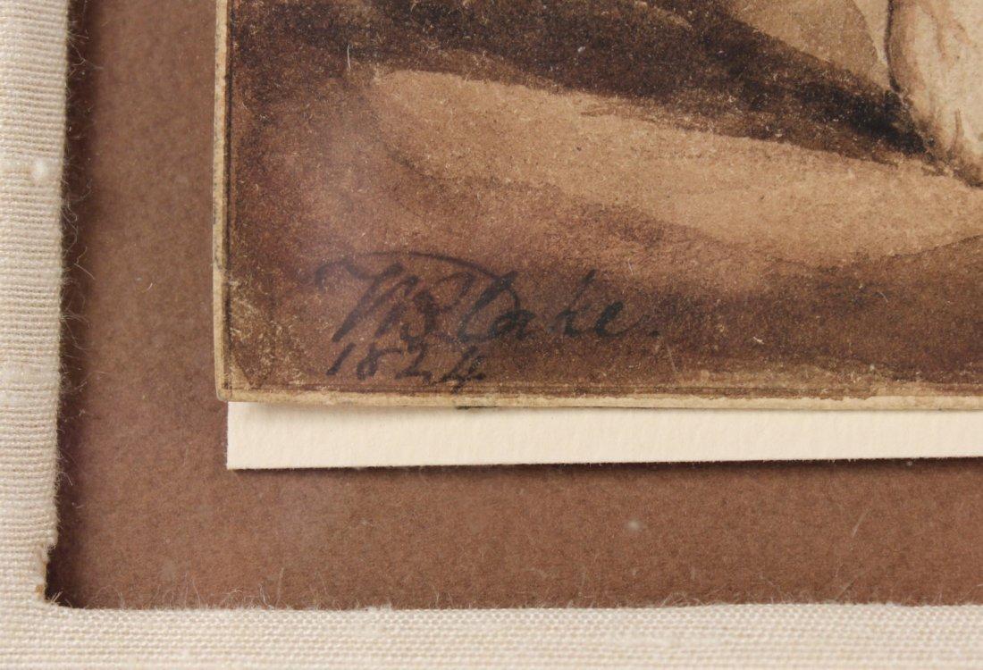 Pen and Ink, Archangel Michael, William Blake - 3